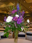 Tall Blue and Purple Centerpieces